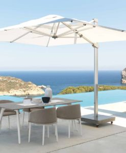 adam cantilever rectangle 10x13 square 13 ft 360 rotation turn roll movable base umbrella contract hospitality 3