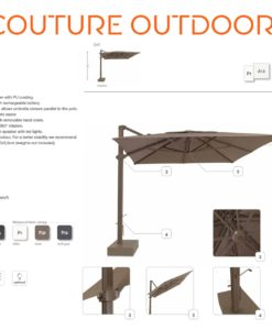 eve cantilever big giant rectangle 10x13 360 rotation umbrella contract hospitality