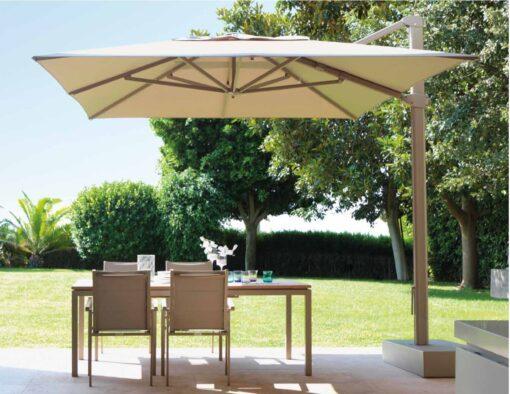 eve cantilever black white granite base rectangle 10x13 360 rotation turn modern umbrella contract hospitality