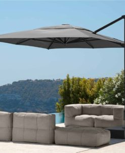 eve cantilever black white granite base rectangle 10x13 360 rotation umbrella contract hospitality
