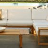 Lin teak Contemporary Sectional Sofa