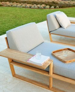 Teak Contemporary Chaise Lounger