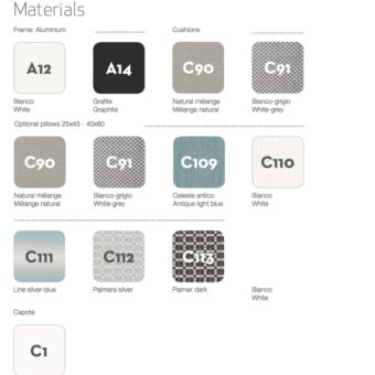 Zambrose Material Options