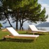 Amagansett Teak Contemporary Chaise Lounger