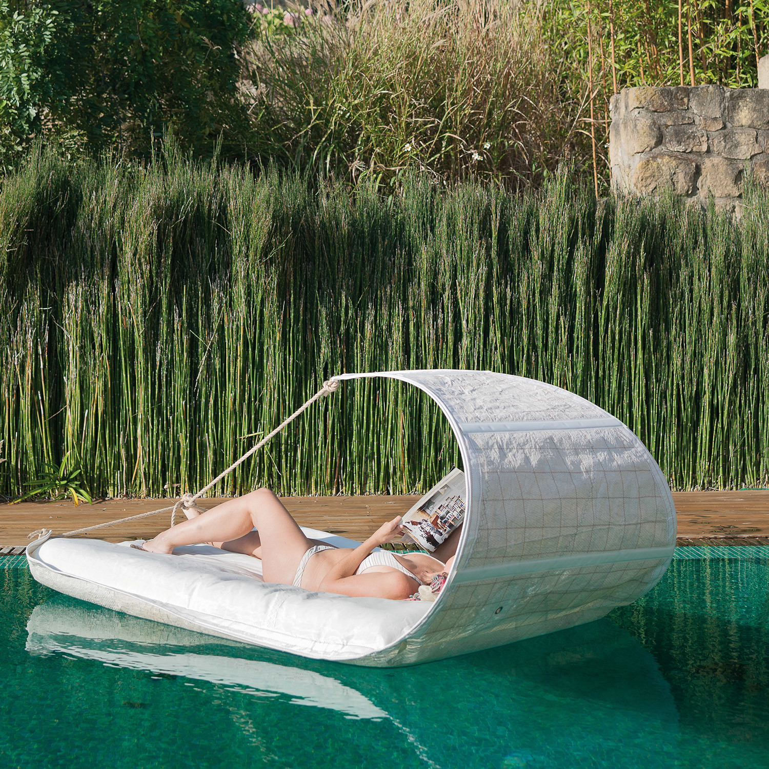 Dvelas Vaurien Floating Inflatable Lounger Upcycle Sailcloth