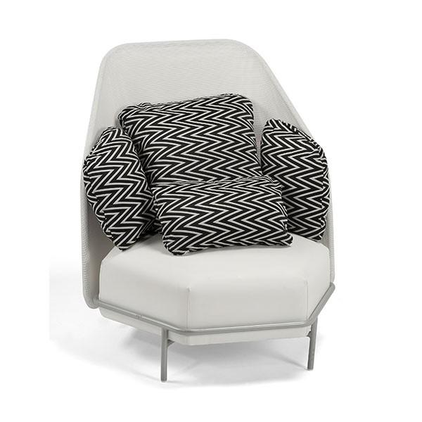 Missoni Home 3 Seat Sofa Gravita: Alice High Back Club Chair