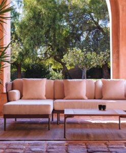 Rope weaved modular sofa
