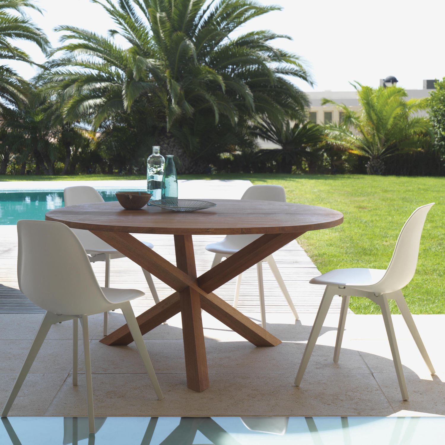 Bali Round Teak Dining Table Couture Outdoor