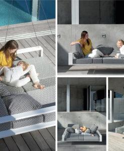 Modern living European design daybed Swing outdoor furniture Ego Paris