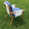 Adele Dining Chair Luxury Contemporary Outdoor Dining Chair Batyline Sling Teak