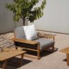 Amagansett Teak Contemporary Club Chair
