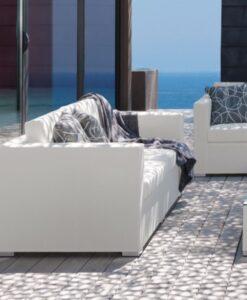 Modern Textilene Aluminum Quickdry 2 3 Seater Sofa