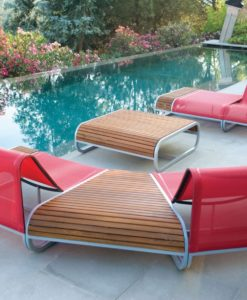 Amore Ego Paris Teak Corian Modular side tables seat sofa set up garden furniture high end. luxury modern unique fun
