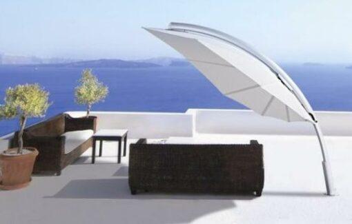 modern leaf design cantilever umbrella 360 rotation 316