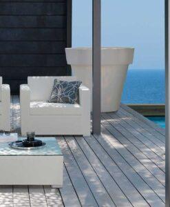 Modern Textilene Quickdry Aluminum Club Chair