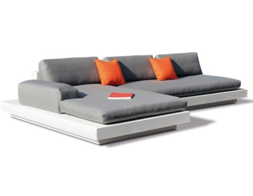 rausch classics international air modern platform sectional modular sofa white black fiberglass elements couture outdoor luxury designer contract hotel design led Light