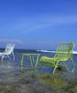 Aloha Color Club Chairs Low Contract Modern Wicker Patio Furniture