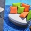 Marina Aloha Daybed Hospitality Pool Entry Wicker Furniture