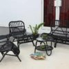 Puerto Aloha Set Low Black Contract Hospitality Outdoor Furniture