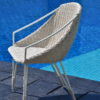 Wicker Aluminum Dining Chair