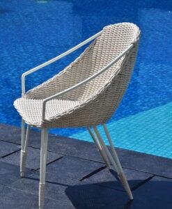 Wicker Aluminum Dining Chair