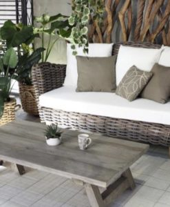 Ami Aloha Wicker Sofa Outdoor Furniture Contract Hospitality Allweather
