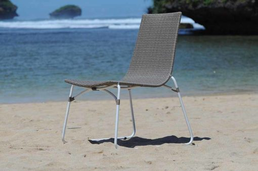 Baliz Aloha wicker dining chair grey