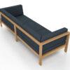 Belize modern teak luxury outdoor furniture design 3 seater sofa seating grey cushion quickdry hotel hospitality patiob