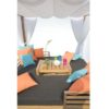 Belize modern teak luxury outdoor furniture design daybed lounge curtain grey cushion quickdry hotel hospitality patio