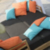 Belize modern teak luxury outdoor furniture design daybed lounge curtain grey cushion quickdry hotel hospitality patio d