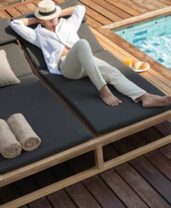 Modern Teak Double Single Daybed Cushion