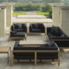 Belize modern teak luxury outdoor furniture design sofa seating grey cushion quickdry hotel hospitality patio 2