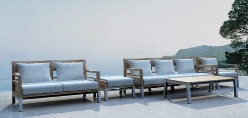 Bermuda 2 Seater Teak Sofa