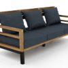 Bermuda modern teak white black aluminum luxury outdoor furniture design 3 seater sofa hotel hospitality patio