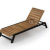 Bermuda modern teak white black aluminum luxury outdoor furniture design chaise lounger hotel hospitality patio