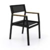 Bermuda modern teak white black aluminum luxury outdoor furniture design dining chair batyline black hotel hospitality patio
