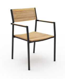 aluminum teak dining chair