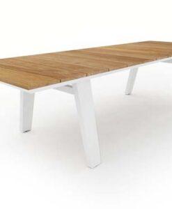 Modern Aluminum Teak Bermuda Dining Table