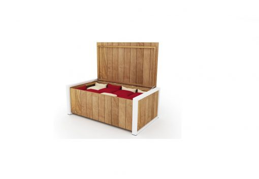 Bermudafied Cushion Box Luxury Outdoor Teak Aluminum Furniture