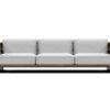 Bermudafied modern teak white black aluminum luxury outdoor furniture design 3 seater sofa hotel hospitality patio