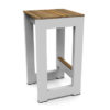 Bermudafied modern teak white black aluminum luxury outdoor furniture design bar stool hotel hospitality patio