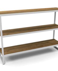 Modern Teak Aluminum Shelves