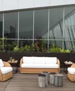Emilia Club Chair 3 Seater Sofa Modern Hospitality Furniture Hotels Resort