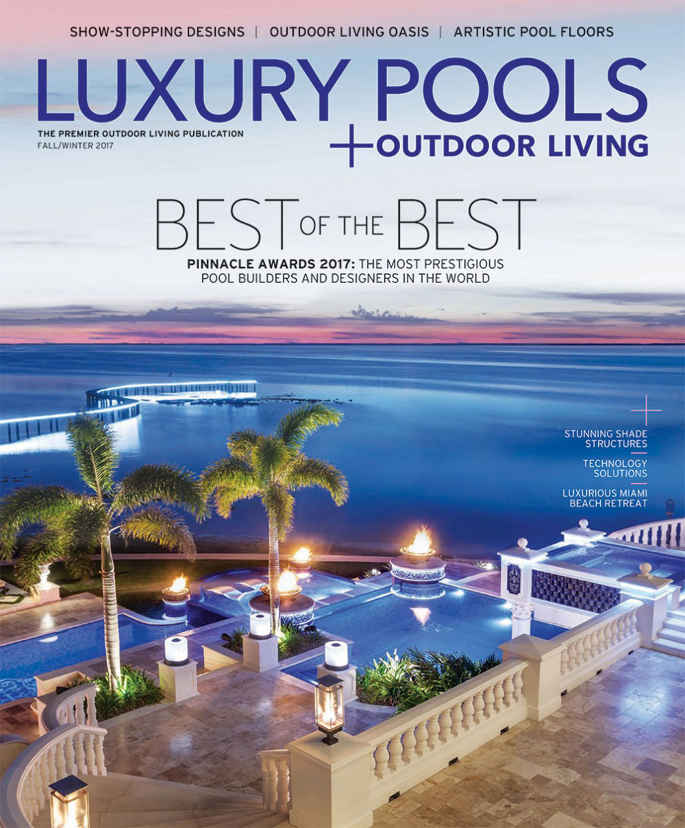 Luxury Pools Fall Outdoor Living Ad