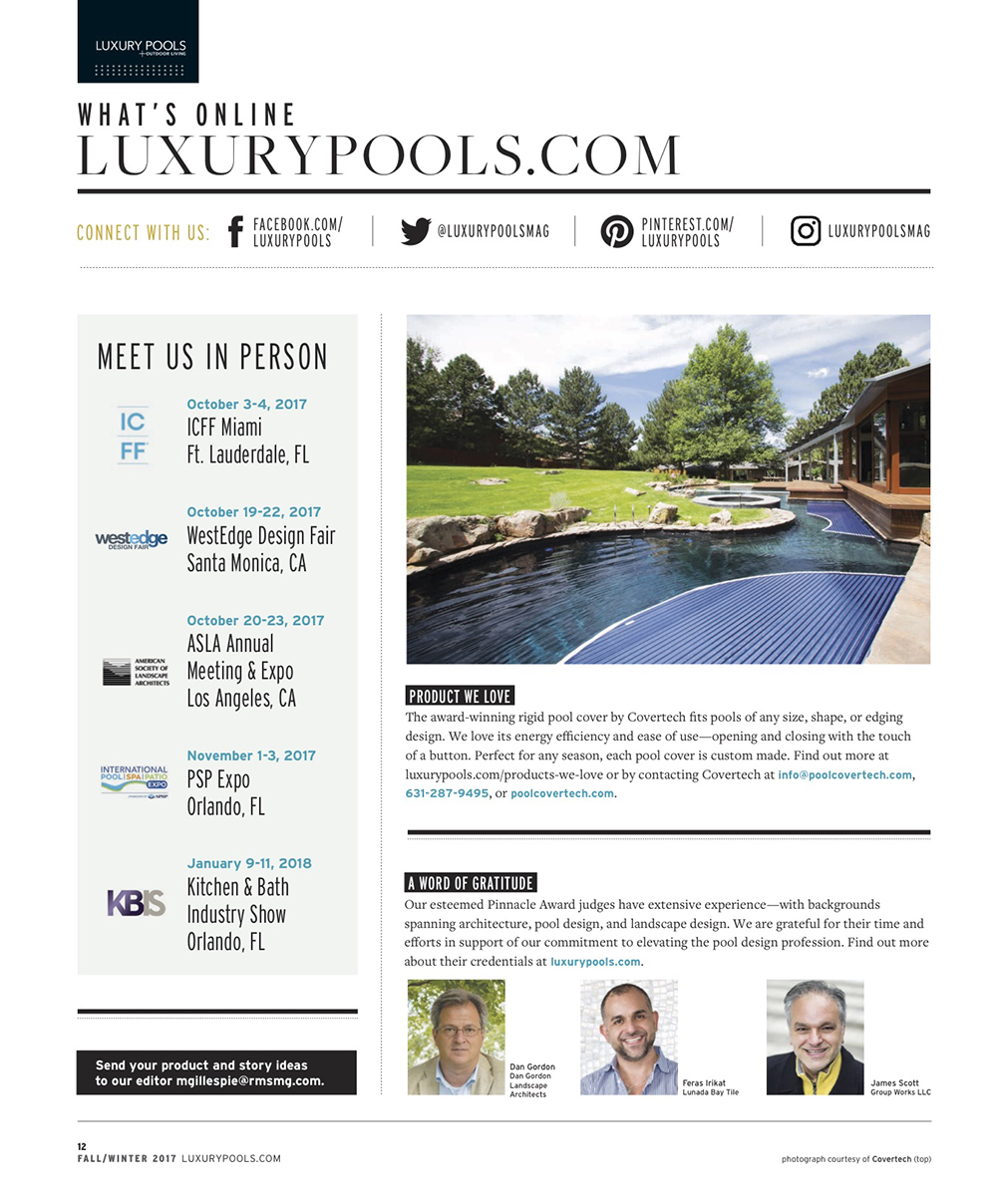 Luxury Pools Ad Covertech