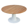 Bermuda modern teak white black aluminum luxury outdoor furniture design round dining table hotel hospitality patio