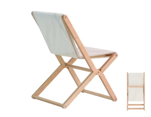 crew folding dining chair made of recycled sails 2019 urban tren design hotels cafes ocean contract