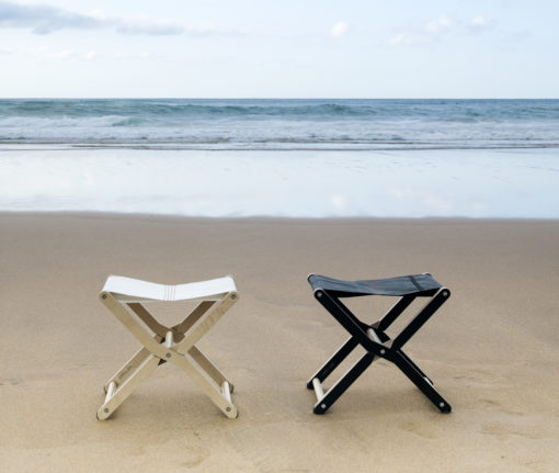 dvelas upcycled sail design ris stools modern outdoor marine plywood furntire residential restaurant