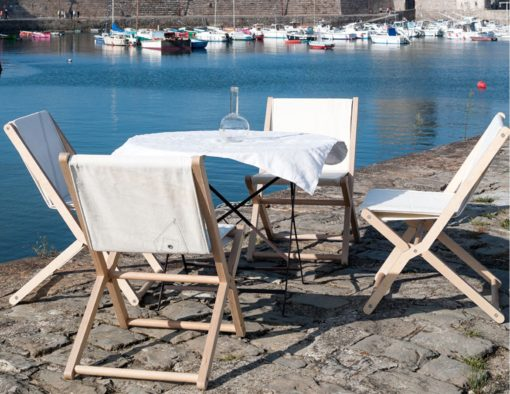 cruise upcycle recycled sail cloth material folding dining chairs yacht furniture luxury design 2