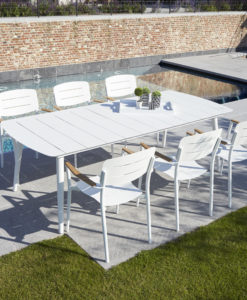 Modern Aluminum Rectangular Dining Table